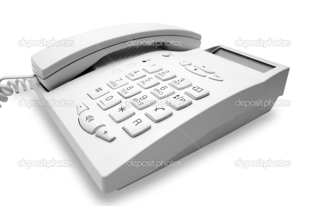 White phone  — Stock Photo #1036619