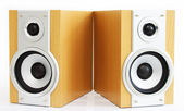 A pair of hi-fi speakers — 图库照片