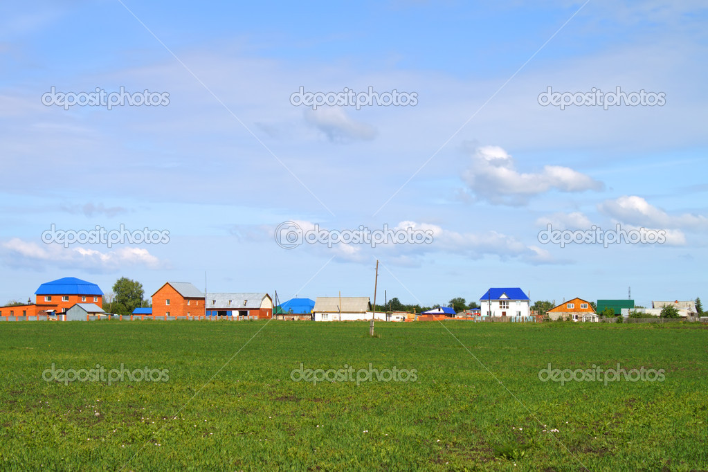 Green grass and blue sky — Stock Photo #1018061