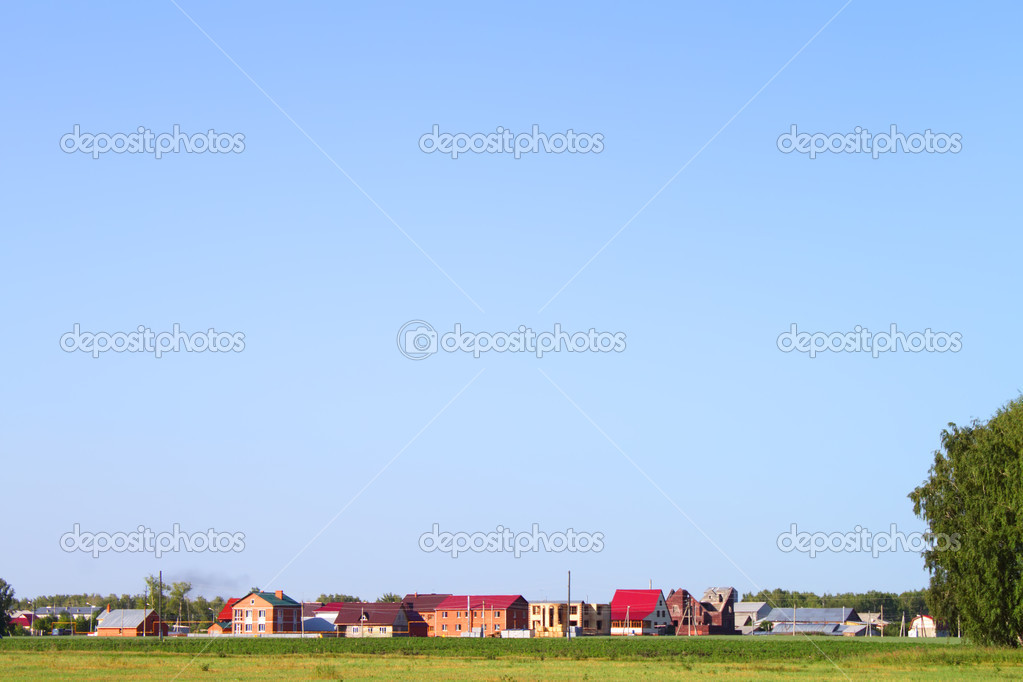 Green grass and blue sky — Foto de Stock   #1019817