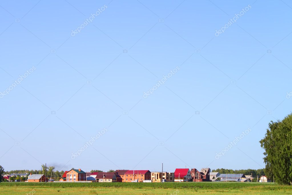 Green grass and blue sky  Foto Stock #1019817