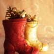 Two decorative boots — Stock Photo