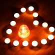 Candles heart — Stock Photo