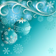 Blue christmas decorative background — Vector de stock