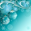 Stock vektor: Blue christmas decorative background