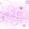 Royalty-Free Stock Imagen vectorial: Pink floral elegant card (vector)