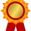 Royalty-Free Stock Vector Image: Red, golden and yellow award (vector)