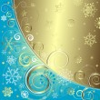 Royalty-Free Stock Векторное изображение: Blue christmas background (vector)