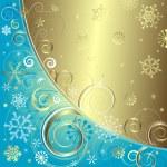 Blue christmas background (vector) — Stock Vector