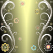 Royalty-Free Stock Vector Image: Floral silvery background (vector)