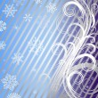 Striped christmas background (vector) — Imagen vectorial