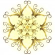 Royalty-Free Stock Vektorfiler: Golden vintage snowflake (vector)