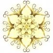 Golden vintage snowflake (vector) — Stock Vector #1006158