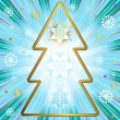 Blue christmas background (vector) — Imagens vectoriais em stock