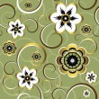 Seamless floral decorative pattern — ストックベクタ