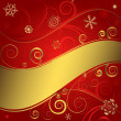 Stock Vector: Red christmas background