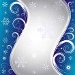Royalty-Free Stock Imagen vectorial: Blue christmas background (vector)