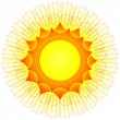 Royalty-Free Stock Imagen vectorial: Decorative sun (vector)