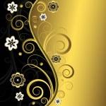 Floral elegant background (vector) — Stock Vector