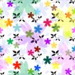 Royalty-Free Stock Vektorfiler: Abstract seamless floral pattern