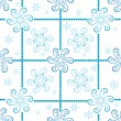 Seamless white-blue christmas pattern — Vector de stock