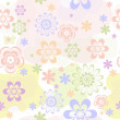 Abstract pastel seamless floral pattern — Stock Vector