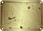 Grunge metálico moldura prateada (vector) — Vetor de Stock