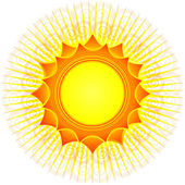 Decorativi sole (vettore) — Vettoriale Stock