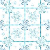 Seamless white-blue christmas pattern — Stock Vector