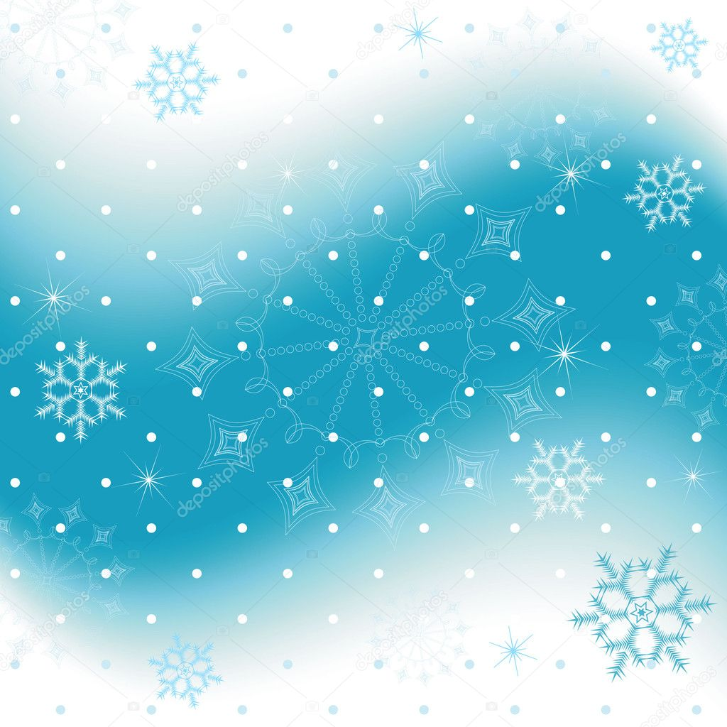 Blue christmas background with snowflakes (vector) — Stock Vector #1005853
