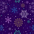 Royalty-Free Stock Vektorfiler: Dark  lilas seamless pattern