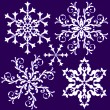 Collection vintage snowflake — Stock Vector