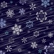 Dark blue winter background — Vector de stock