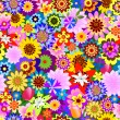 Abstract seamless  floral pattern — Imagen vectorial