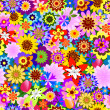Abstract seamless  floral pattern — Vettoriali Stock