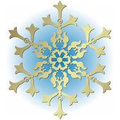 Silvery vintage snowflake — Stock Vector