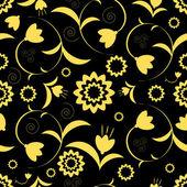 抽象的なシームレスな花柄 — ストックベクタ