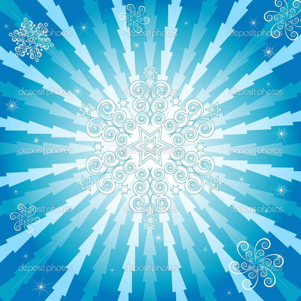 Abstract christmas blue background (vector) — Stock Vector #1010178