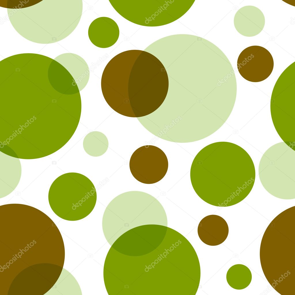 Abstract retro seamless pattern with circles (vector) — Stock Vector #1010183