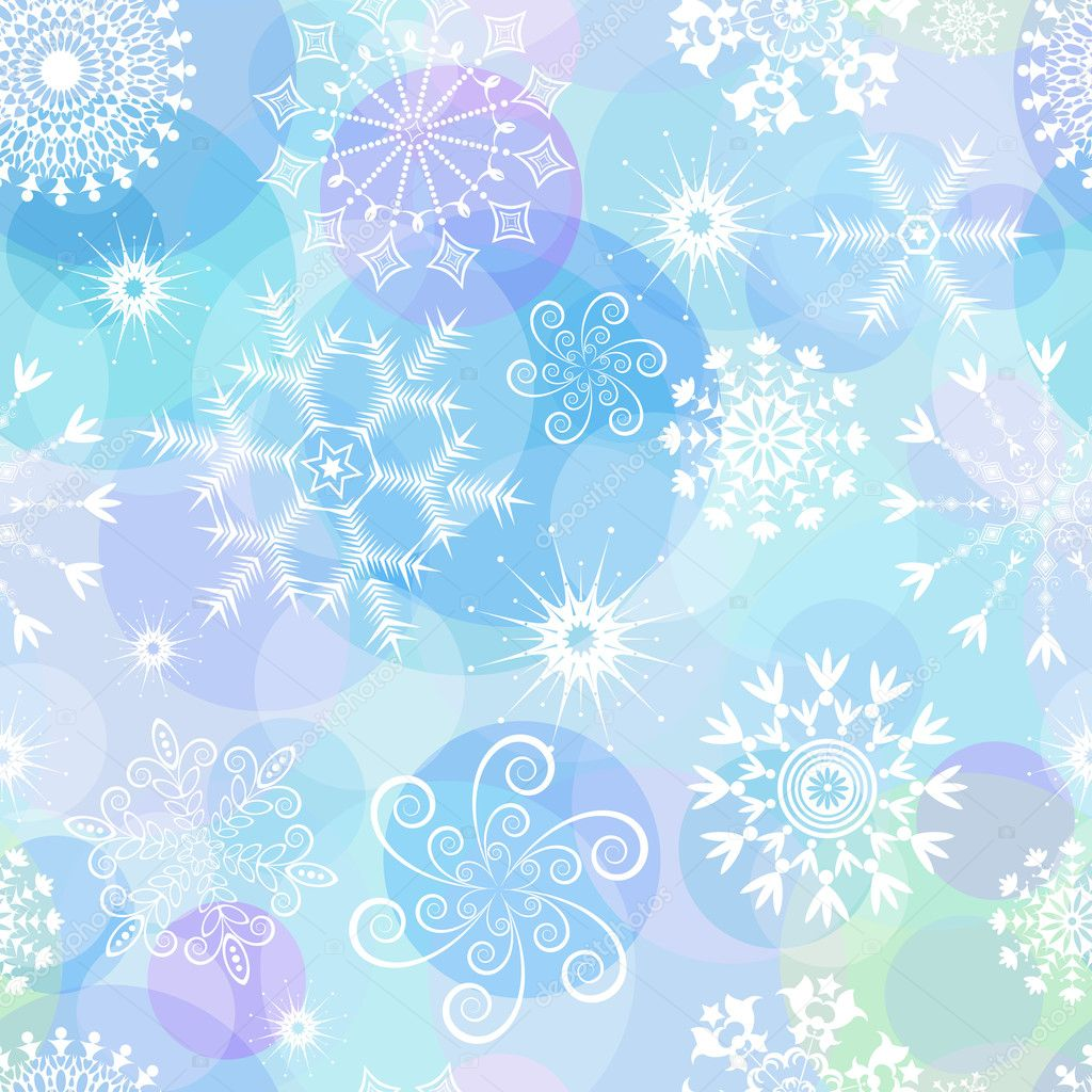 Seamless white, blue and pink paste christmas pattern (vector) — Stock Vector #1010391