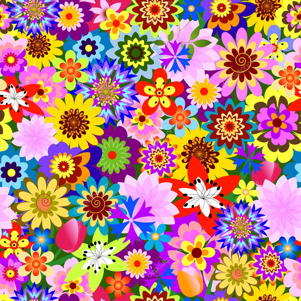 abstract floral flowers patterns - photo #42