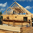 Stock Photo: Construction of country house