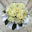 Wedding bouquet from white roses — Stock Photo