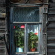 Window Of The Old Rural House — Stock Photo