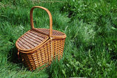 The basket for picnic. — Stock Photo
