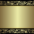 Vintage silvery frame — Stock Vector #1056676