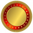Royalty-Free Stock Vector Image: Golden plate with red ring