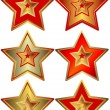 Royalty-Free Stock Immagine Vettoriale: Collection of the stars (vector)