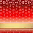 Red christmas background — Vettoriali Stock