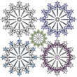 Vintage decorative snowflakes — Stock Vector #1082420